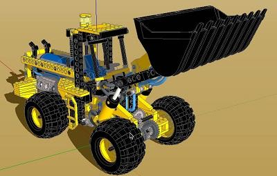 دانلود طرح سه بعدی بیل مکانیکی دراسکچاپ به صورت کامل (sketchup)